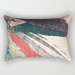 Thunder&Lightning {3}: Minimal watercolor abstract in pinks, blues, and greens Rectangular Pillow