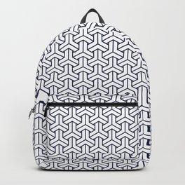 Japanese Yukata Jinbei Bishamon Navy reversed pattern Backpack