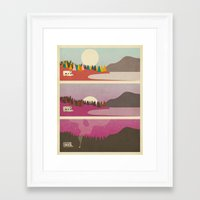 jazzberry Framed Art Prints featuring Campfire by Jazzberry Blue