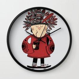 Native American Skater Boy Wall Clock