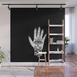 Hand of Fatima Black Wall Mural