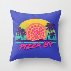 Pizza '84 Throw Pillow