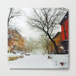NYC @ Snow Time Metal Print