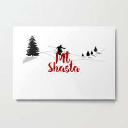 Ski at Mt. Shasta Metal Print