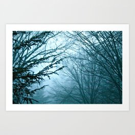 In Blue Art Print