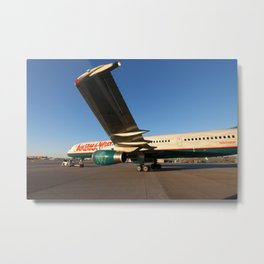 America West Airlines 757 Close Up Metal Print
