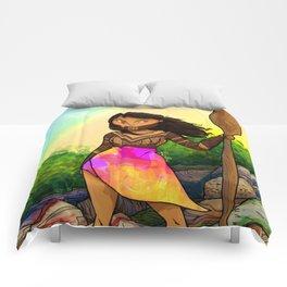 Embera girl Comforters