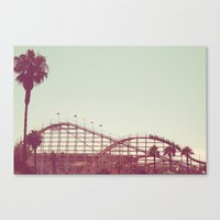 coasters Canvas Prints featuring Coasters Views by Diem Design