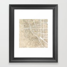 Boulder Colorado Watercolor Map Framed Art Print