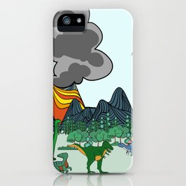Dino Scene iPhone Case