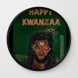 KWANZAA Gifts and Cards for a King Wall Clock