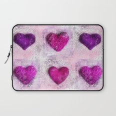 Pink Passion colorful heart pattern Laptop Sleeve