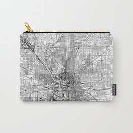 Indianapolis White Map Carry-All Pouch