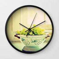 fruit Wall Clocks featuring Fruit  by Jo Bekah Photography