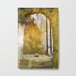 Smoking Pit Ruin Metal Print
