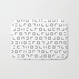 Code Breaker - Abstract, black and white, minimalist artwork Bath Mat