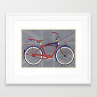 british Framed Art Prints featuring British Bicycle by Wyatt Design