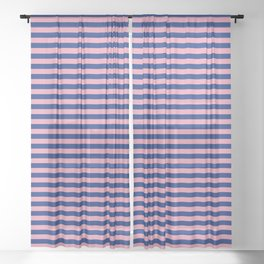 Color_Stripe_2019_001 Sheer Curtain
