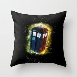 TARDIS The Real Star Throw Pillow