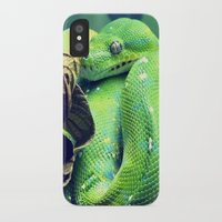 snake iPhone & iPod Cases featuring Snake by Yoshigirl