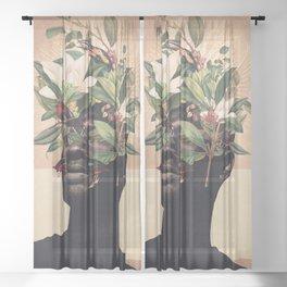 Birds are my Real Origin Reversed Sheer Curtain