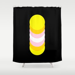 Pangender in Shapes Shower Curtain