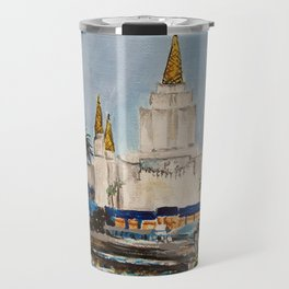 Oakland California LDS Temple Dusk Travel Mug