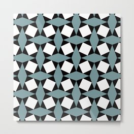 Geometric Pattern #188 (gray squares) Metal Print
