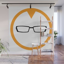Red Head Logo Wall Mural