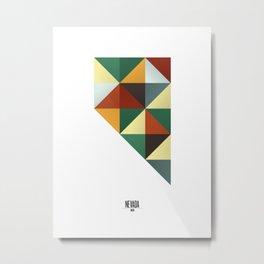 Geometric Nevada Metal Print