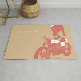face the wind Rug