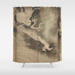 Dragons and Clouds by Tawaraya Sotatsu (俵屋 宗達) Shower Curtain