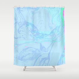 Marble Fuzz Shower Curtain