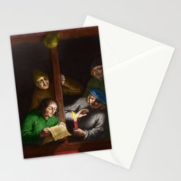 """""""Can You Show Me"""" Italian renaissance portrait painting Stationery Cards"""