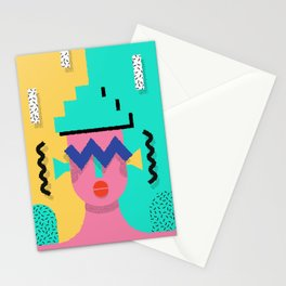 She's a Memphis Conehead Stationery Cards