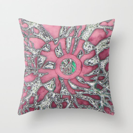Rose Circle Throw Pillow
