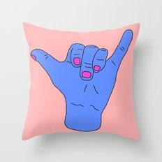 Hang Loose Bra Throw Pillow