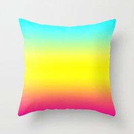 Ombre Magical Rainbow Unicorn Colors Throw Pillow
