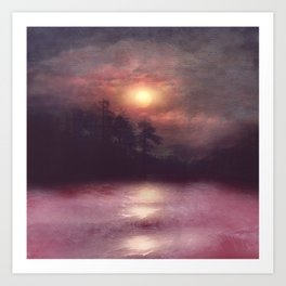 Hope in the pink water Art Print
