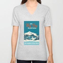 Ski Big Sky Montana Vintage Poster Unisex V-Neck
