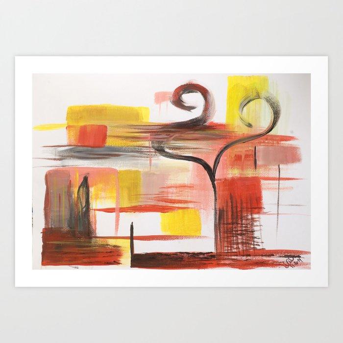 Love Swans Art Print