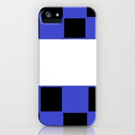Black and blue chess board iPhone Case