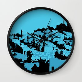 Telegraph Hill Print Wall Clock