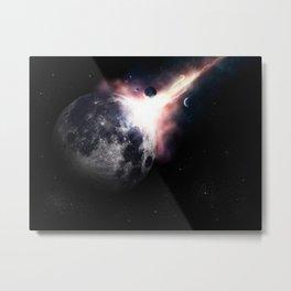 Planet Abduction Metal Print