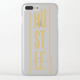 Hustle (Gold) Clear iPhone Case