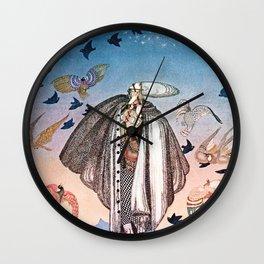 """Birds in The Sky"" Kay Nielsen Fairytale Illustration Wall Clock"
