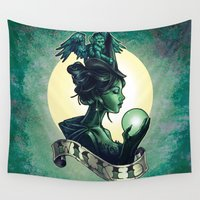 tim burton Wall Tapestries featuring WICKED by Tim Shumate