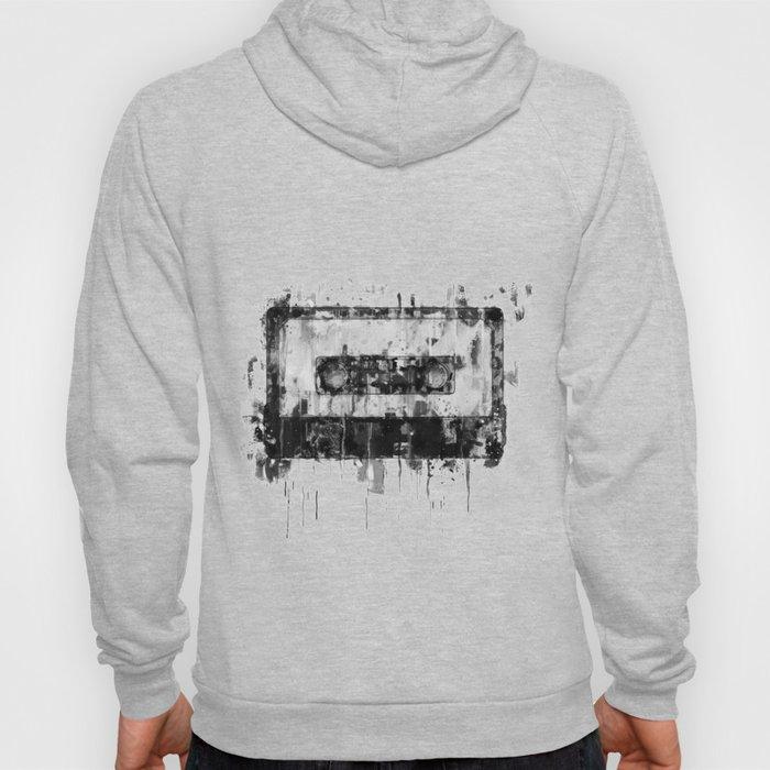 cassette / tape Illustration black and white painting Hoody