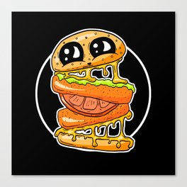 Fast Food FRENZY - Cheezy Vegan Vegetarian Vicky Burger Canvas Print