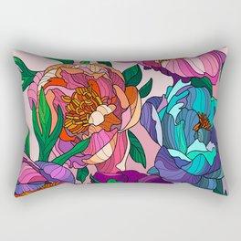 Floral Lines 1 Rectangular Pillow
